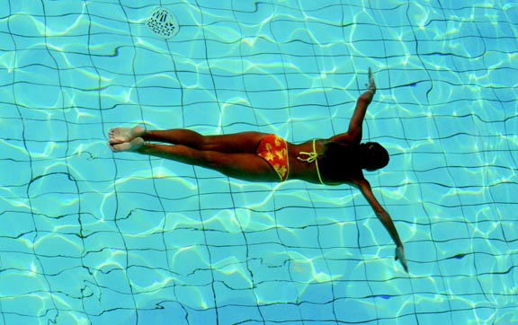Wanaka Luxury Apartments, swimming.