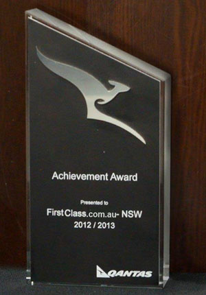 qantas achievement award 2012-13