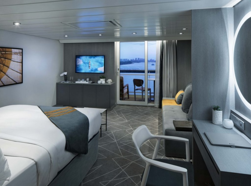 Celebrity Cruises collaborated with renowned international hospitality design firm Hirsch Bedner Associates (HBA) to transform the Millennium Series staterooms as part The Celebrity Revolution.