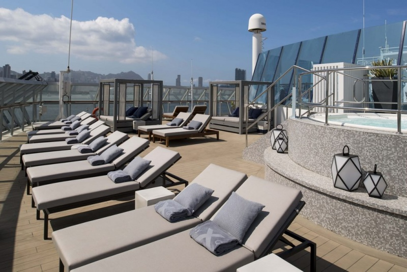 """In collaboration with famed interior designer Kelly Hoppen, MBE, Celebrity Cruises revealed The Retreat Sundeck, a """"revolutionized"""" haven for suite guests."""
