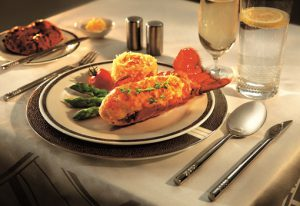 Lobster Thermidor on Singapore Airlines First Class