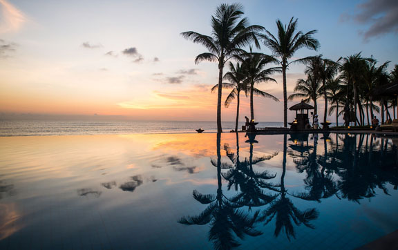 The Legian Bali Infinity Pool and Beach