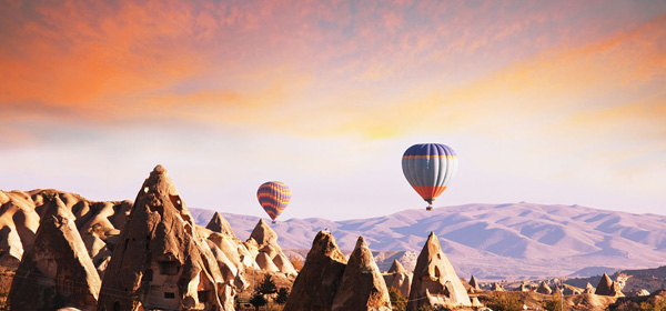 Balloons in Cappadocia - Visit them on the Treasures of Turkey Tour with Abercrombie and Kent