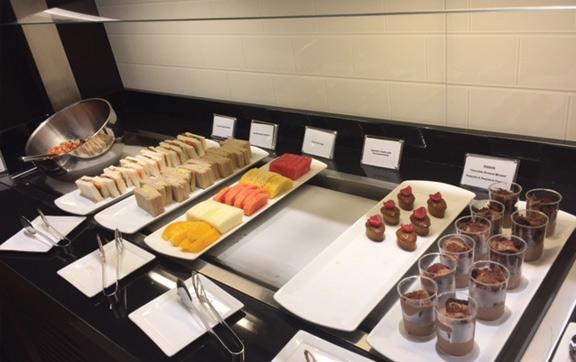Food selection -  BA Lounge Changi Airport
