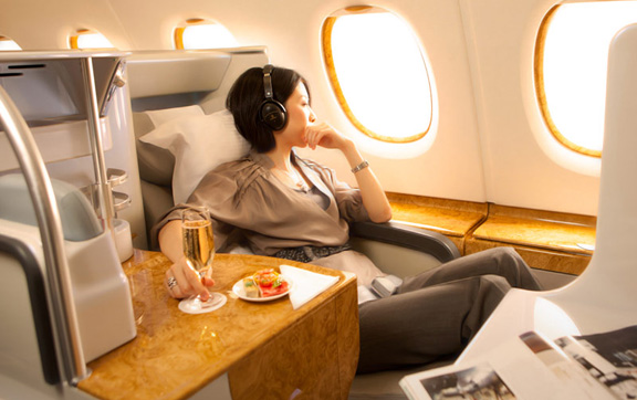 Fly in luxury with Emirates Business Class
