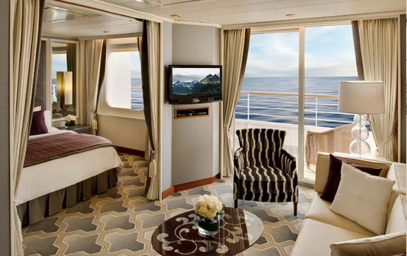 Crystal Serenity Penthouse Suite with Veranda