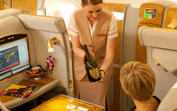 Emirates Serving Wine