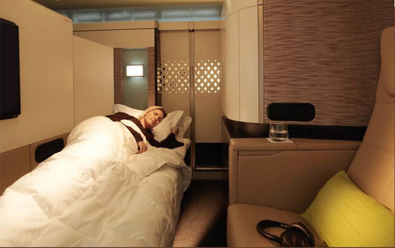 Relax in your own private apartment in Etihad First Class