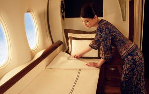 Turn down service on Singapore Airlines First Class