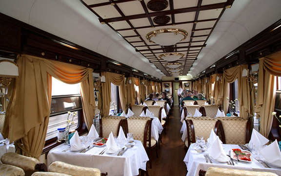 The Decadent Dining Car Onboard the Golden Eagle