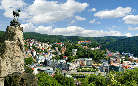 Panorama of Karlovy Vary in the Czech Republic