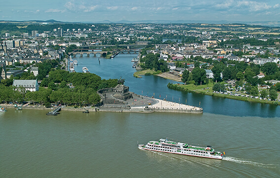 The German Corner in Koblenz, Germany