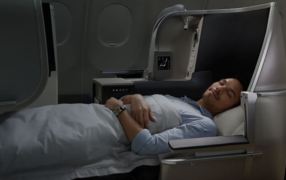 Sleep in Malaysia Airlines new A330 Business Class