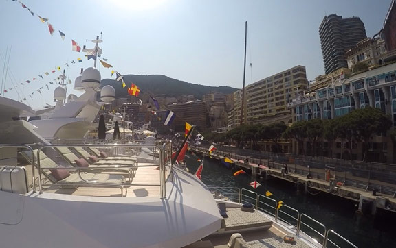 Viewing the Monaco Grand Prix from yachts