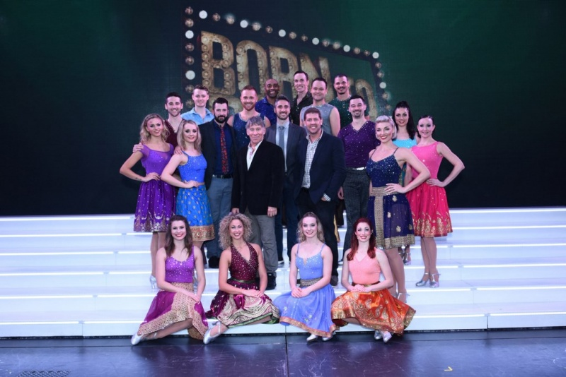 "Stephen Schwartz and Daniel C. Levine, pictured center, along with the ""Born To Dance"