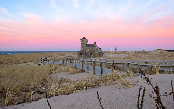 A sunset over Provincetown, Cape Cod