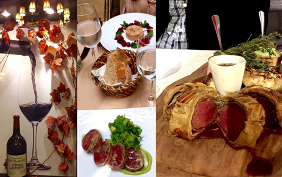 Food from Le Pressoir d'Argent and Gordon Ramsey's Brasserie le Bordeaux