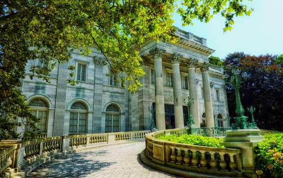 The famous Marble House in Newport, Rhode Island